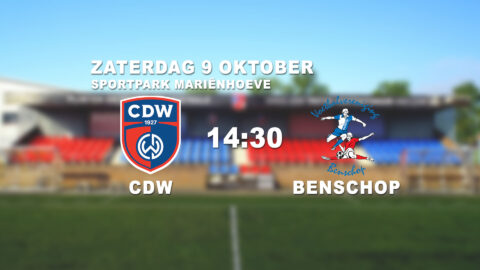 CDW verslaat Benschop met 2-0
