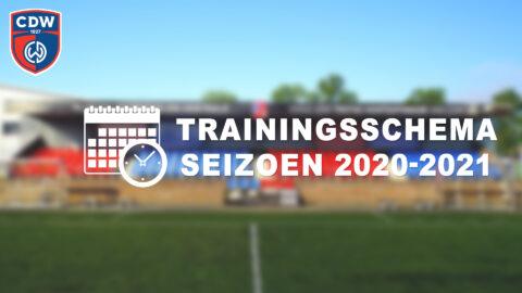 Voorlopig trainingsschema 2020-2021