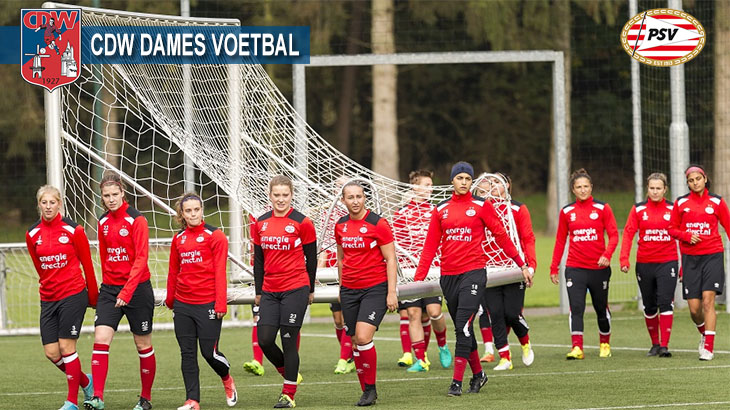 PSV-vrouwen uit eredivisie komen meiden CDW trainen