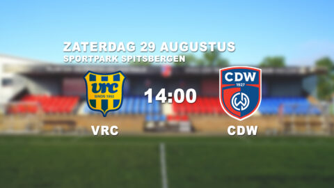 Eerste Bekernederlaag CDW 1 in Veenendaal tegen VRC
